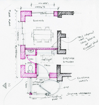 home design sketch plan