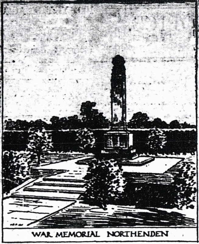 Artist Impression of Northenden War Memorial 1922